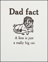 Load image into Gallery viewer, Dad fact (lion) Greeting Card