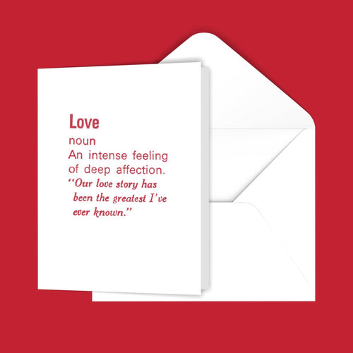Love (definition) Greeting Card