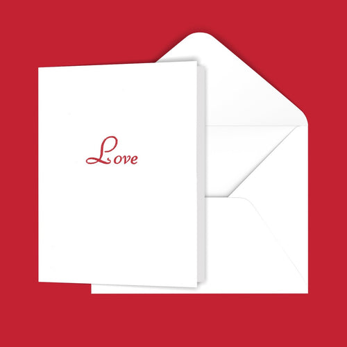Love (Script) Greeting Card