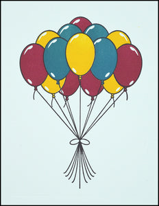 A Bunch of Balloons Greeting Card