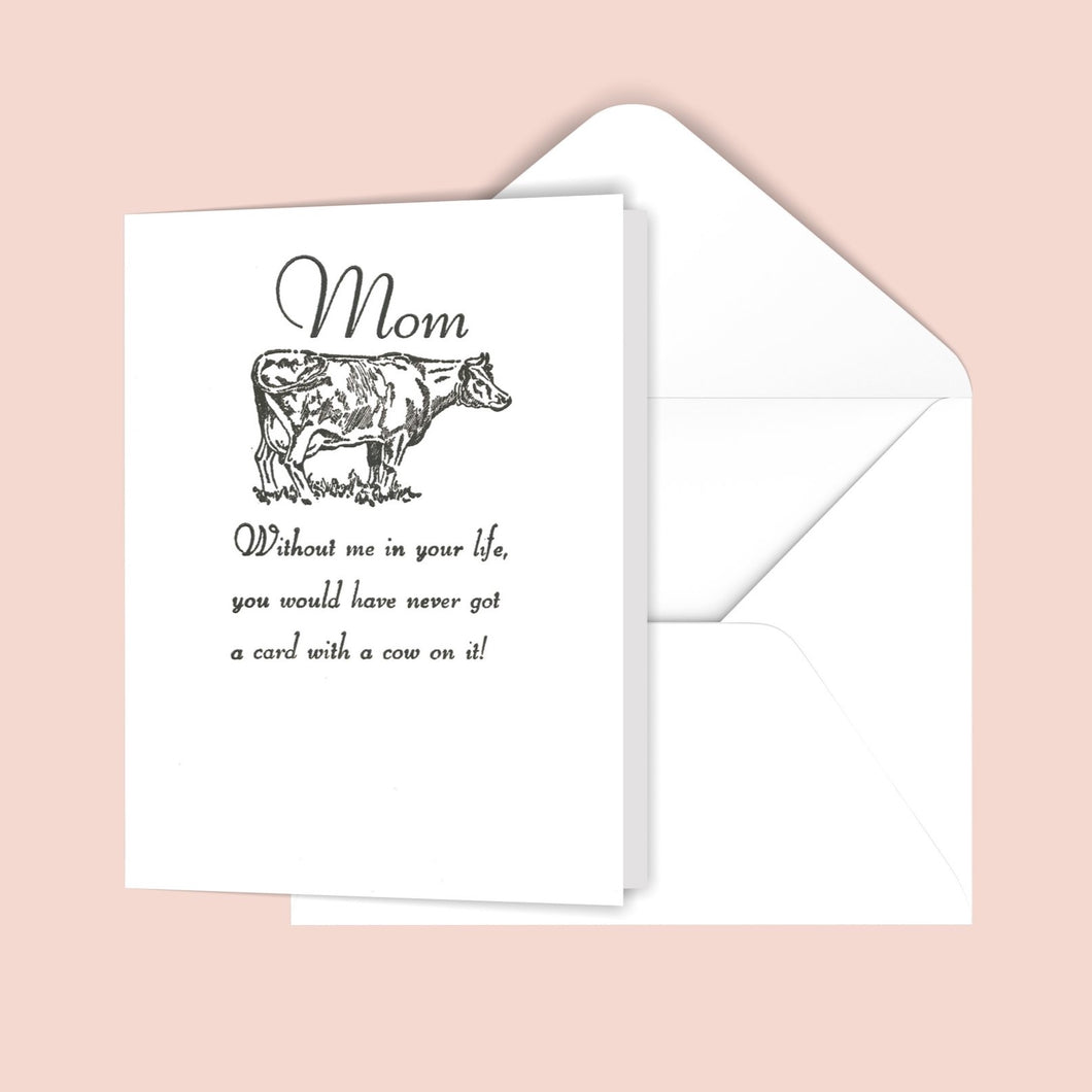 Mom (cow) Greeting Card