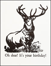 Load image into Gallery viewer, Oh dear! It's your birthday! Greeting Card