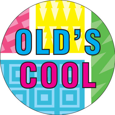 Old's Cool 90's Pattern Button