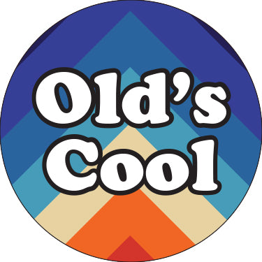 Old's Cool Blue Chevron Button