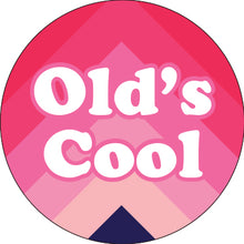 Load image into Gallery viewer, Old's Cool Pink Chevron Button