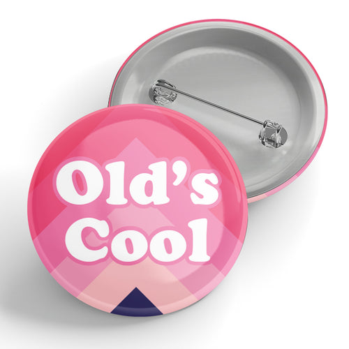 Old's Cool Pink Chevron Button