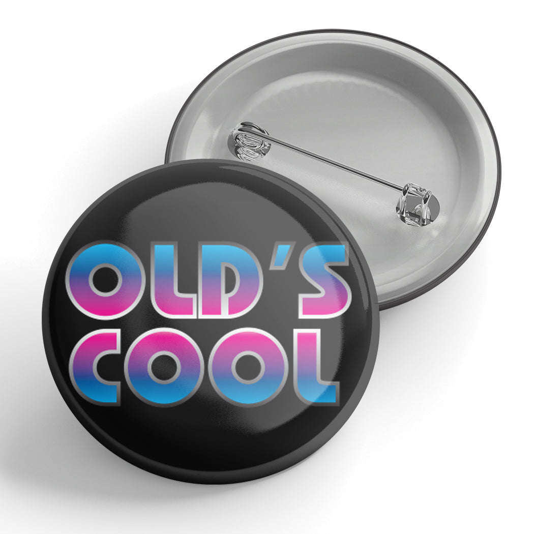 Old's Cool 80's Metal Button