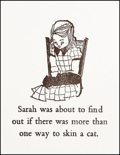 Sarah was about...