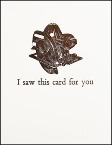 I saw this card for you Greeting Card