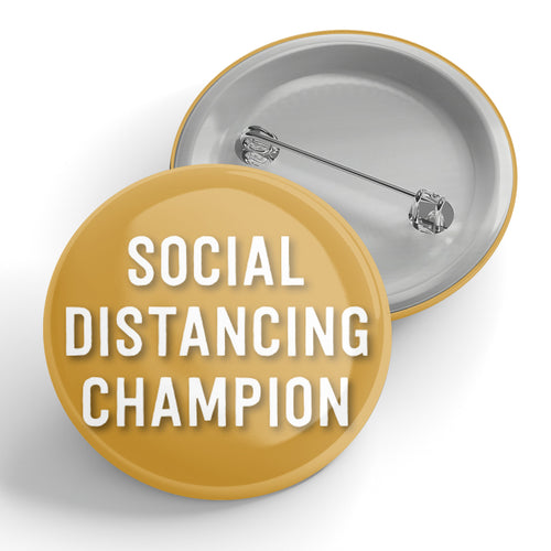 Social Distancing Champion Button