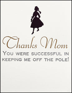 Thanks Mom Greeting Card