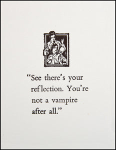 See there's your reflection. Greeting Card