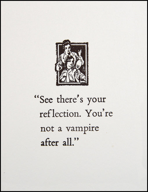 See there's your reflection.