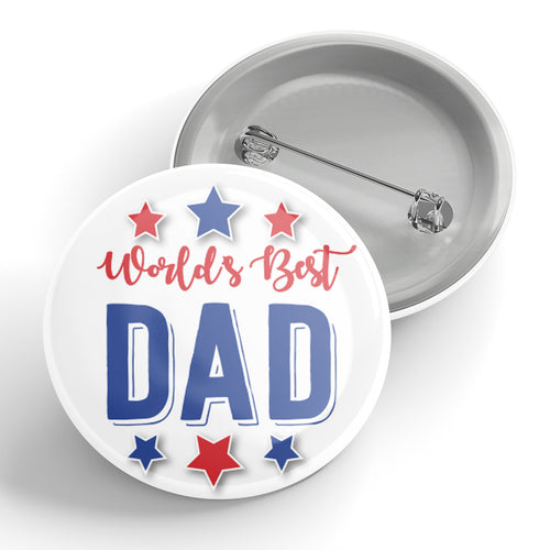 Worlds Best Dad Button