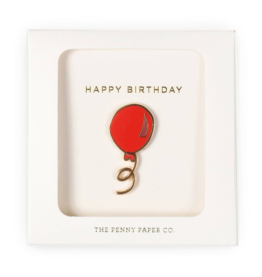 Happy Birthday Balloon Enamel Pin Gift Set - SoCal Threads Boutique