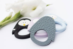 Little Cheeks - Penguin Teethers - SoCal Threads Boutique