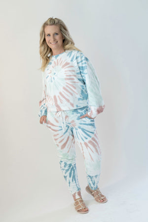 Z SUPPLY DESSERT WHITE MULTICOLOR TIE-DYE JOGGER - SoCal Threads Boutique