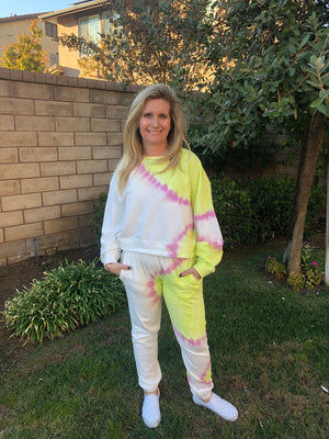 Sunburst Tie Dye Sweatshirt - SoCal Threads Boutique