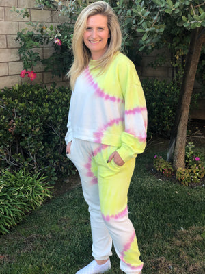 Sunburst Tie Dye Jogger - SoCal Threads Boutique