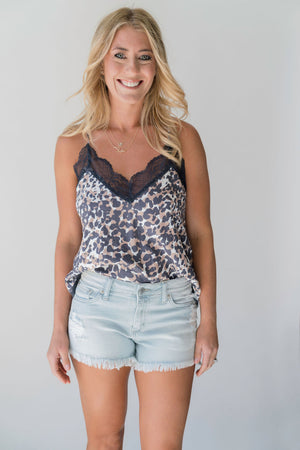 Leopard Lace Cami - SoCal Threads Boutique