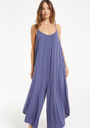 Flared Jumpsuit - Dark Indigo - SoCal Threads Boutique