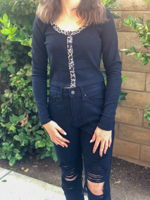 Black JBD High Rise Mom - SoCal Threads Boutique
