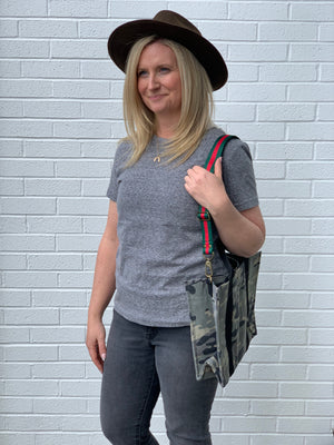Heather Grey Crew Top - SoCal Threads Boutique