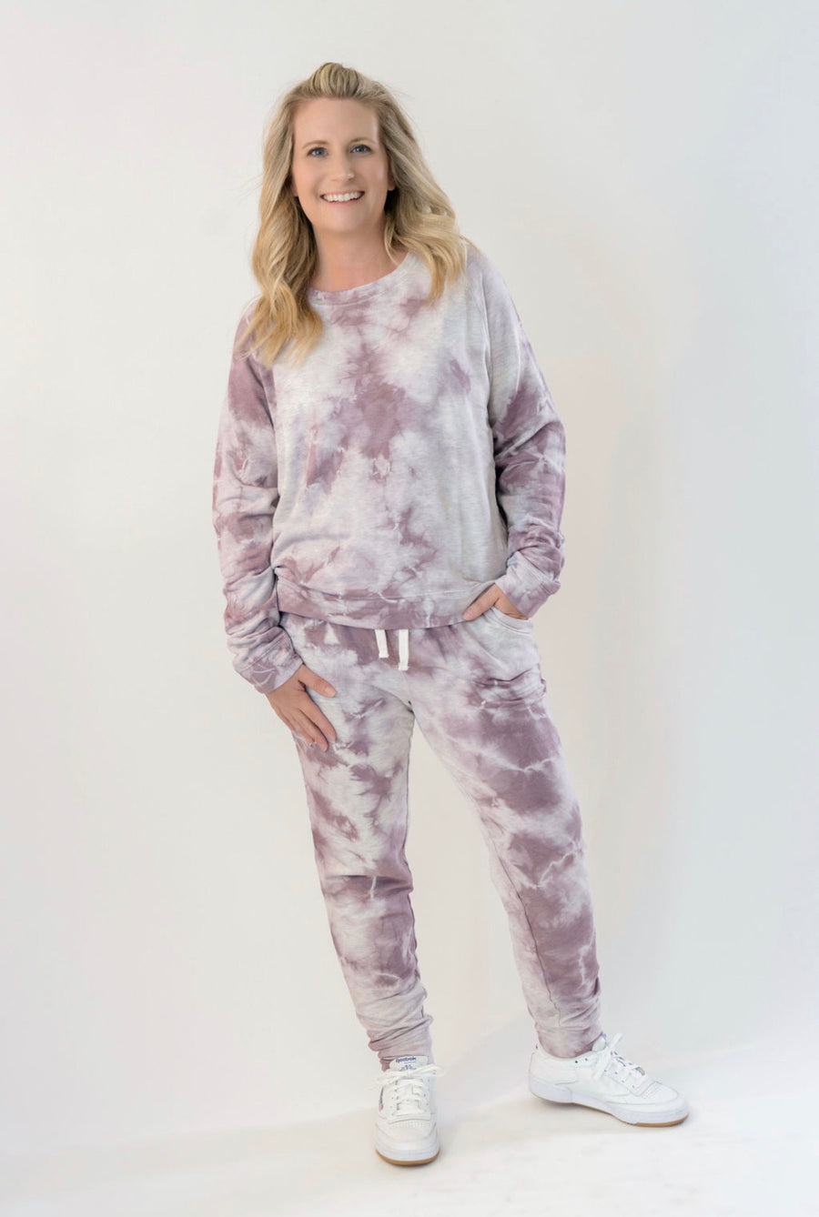 Alana Tie Dye Lavender Joggers - SoCal Threads Boutique