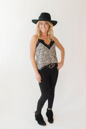 JBD Black Cropped Distressed Denim - SoCal Threads Boutique