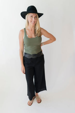 Patrons of Peace Payton Black Wide Leg Pants - SoCal Threads Boutique