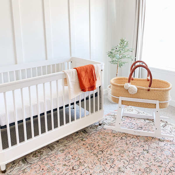 How to create a modern + minimalist nursery