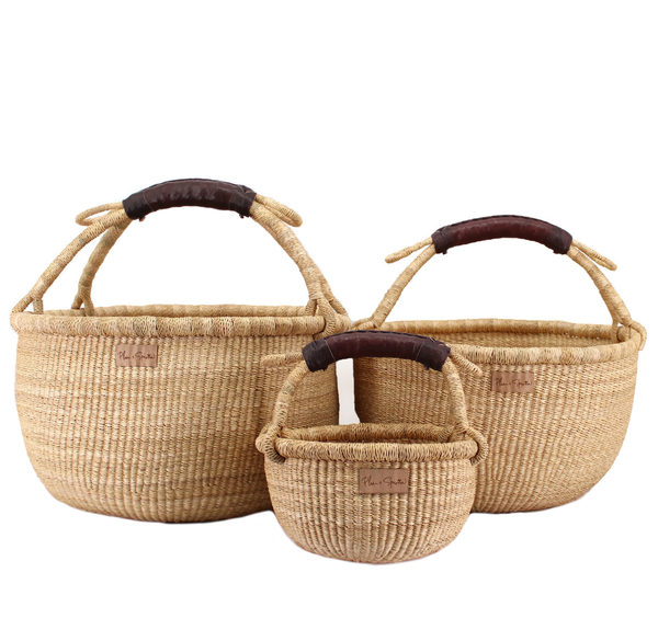 Natural<br>Brown Handle<br>Medium Market Basket