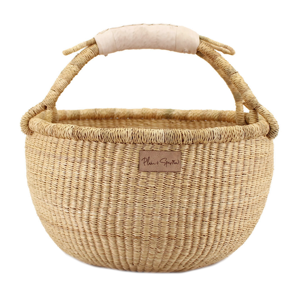 Natural<br>Cream Handle<br>Medium Market Basket
