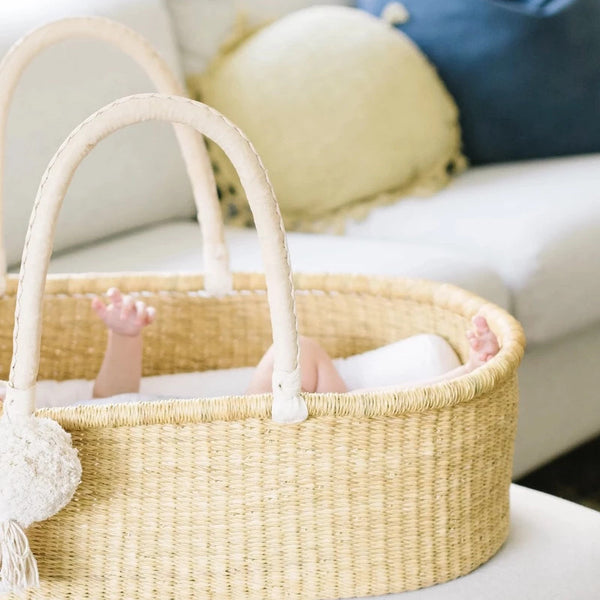 Wheatgrass<br>No Hood<br>African Moses Basket<br>Cream Handle