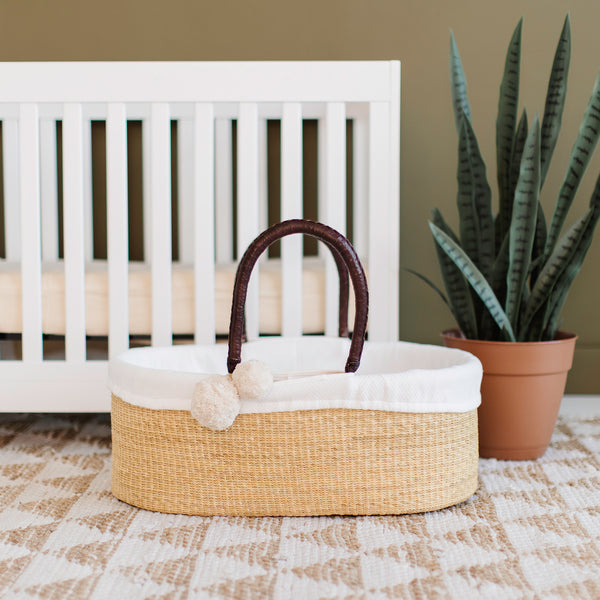 Wheatgrass<br>No Hood<br>African Moses Basket<br>Brown Handle