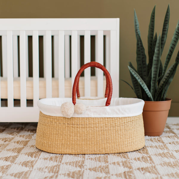 Wheatgrass<br>No Hood<br>African Moses Basket<br>Cognac Handle