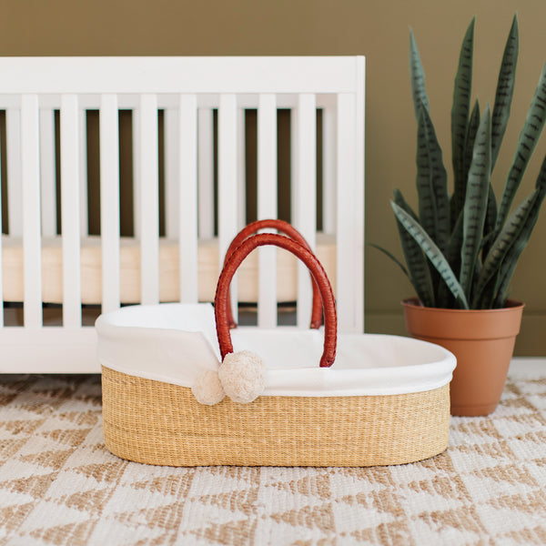 Wheatgrass<br>African Moses Basket<br>Cognac Handle