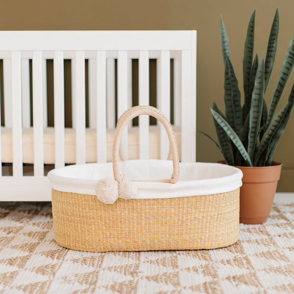 Wheatgrass<br>Perfectly Imperfect<br> African Moses Basket<br>No Hood<br>Cream Handle