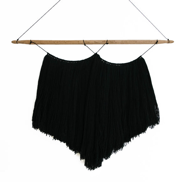 Macrame Wall Hanging<br>Double Black