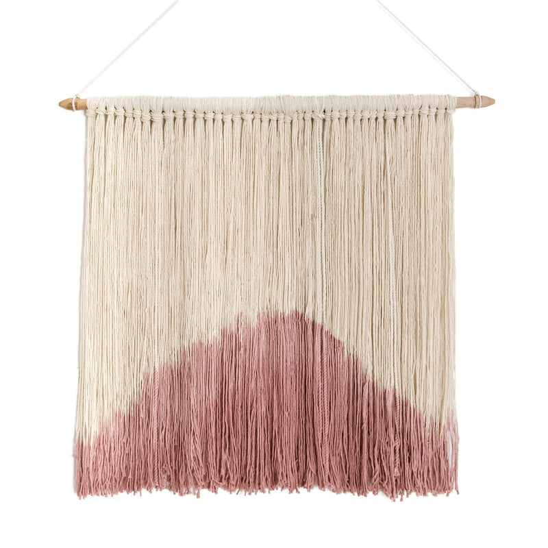 Macrame Wall Hanging<br>blush