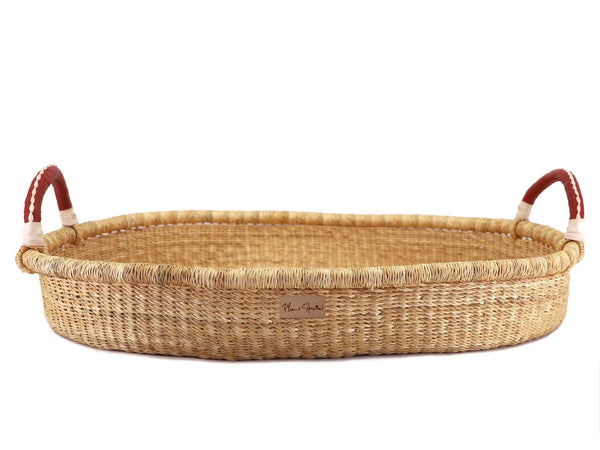Wheatgrass<br>Changing Basket<br>Cognac + Cream Handle