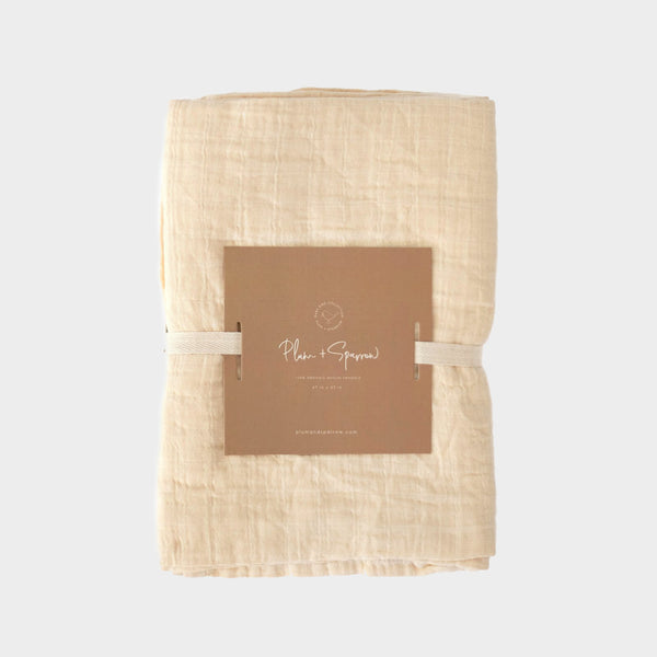 Muslin Cotton Swaddle<br>Almond