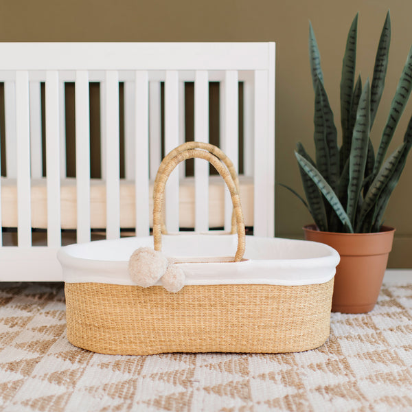 Wheatgrass<br> African Moses Basket <br>No Hood<br> Vegan Handle
