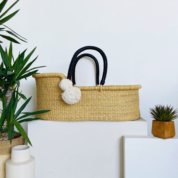 ** pre-order **<br> ships on or before feb 15<br>Wheatgrass<br>African Moses Basket<br>Black Handle