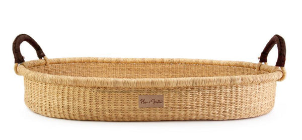 Wheatgrass<br>Changing Basket<br>Brown Handle