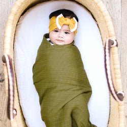Muslin Cotton Swaddle<br>Avocado