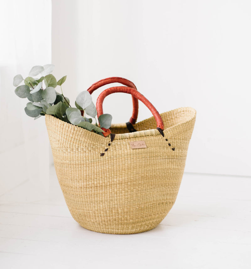 Natural<br>Open Weave<br>U Shopper
