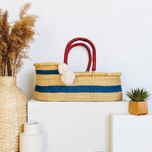 Coastal<br>Perfectly Imperfect<br> African Moses Basket