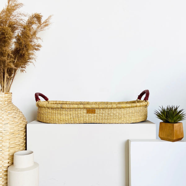 Wheatgrass<br>Changing Basket<br>Cognac Handle