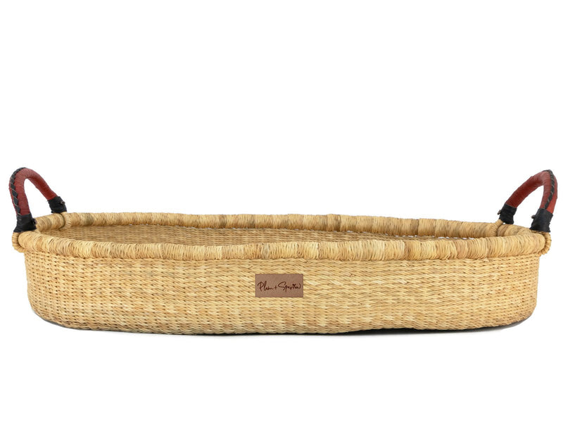 Wheatgrass<br>Changing Basket<br>Cognac + Black Handle